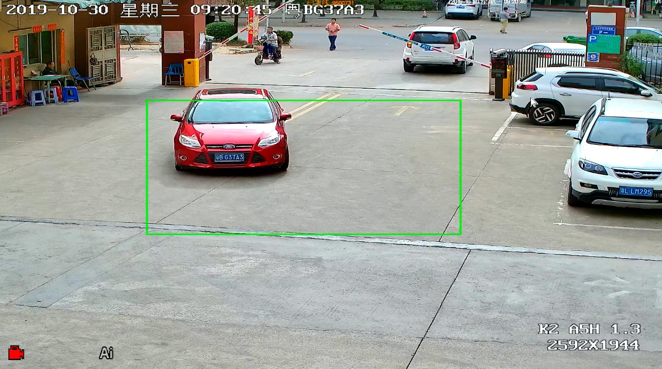 工业区摄像机效果图