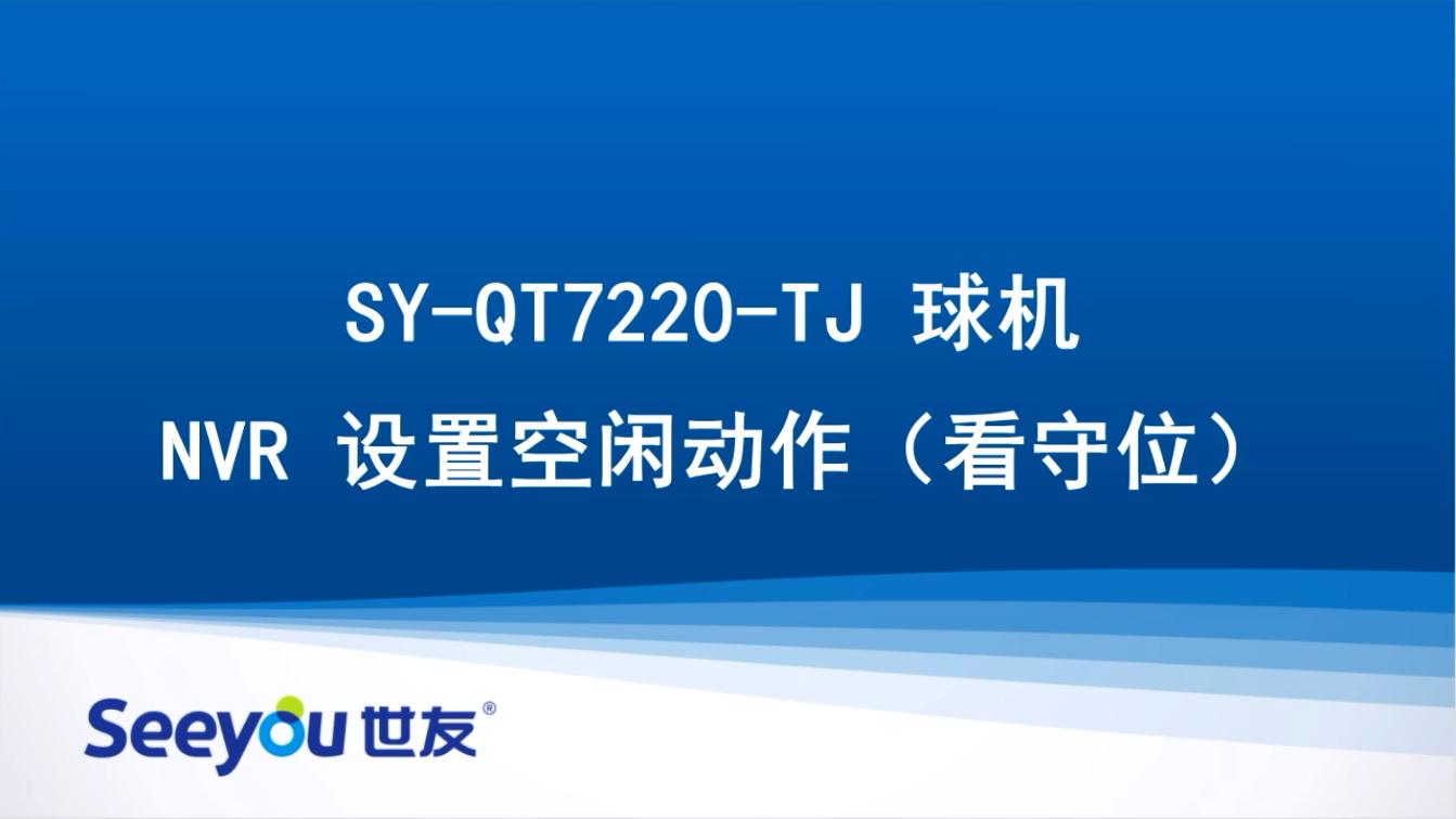 世友QT7220 NVR设置空闲动作