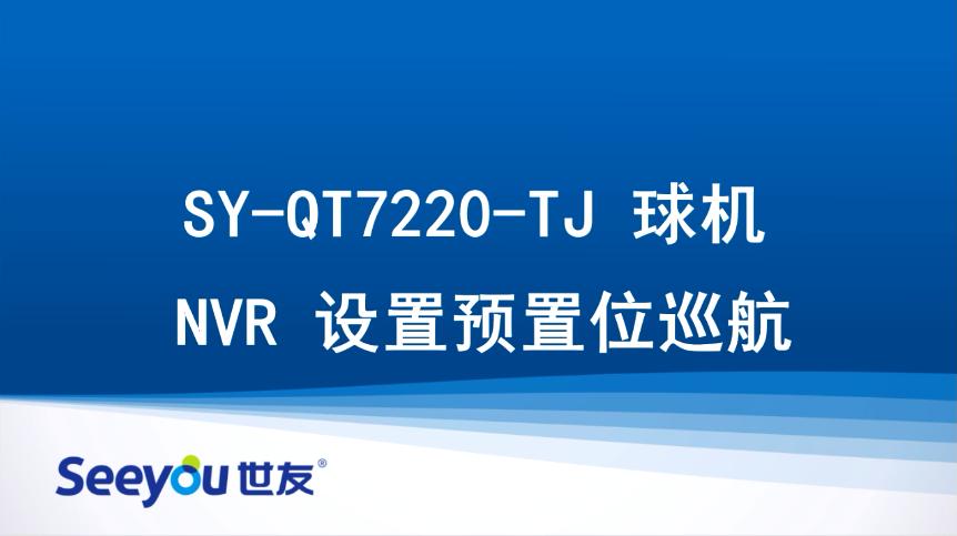 世友QT7220 NVR设置预置位巡航